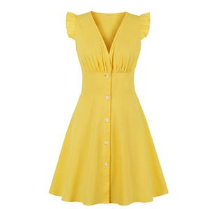Summer A-line Dress, Retro Dresses for Women 1960, Vintage Dresses 1950