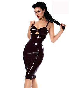 Plus Size Dress, PVC Dress, Black Mini Dress, Catwalk Dress, Fashion Black Dress, Night Club Dress, Steampunk Dress, #N10998