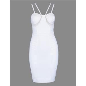 Sexy Dress for Women, Fashion Midi Dresses, Bodycon Party Dress, Spaghetti Straps Bodycon Dress, Stripe Women