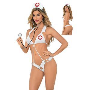 Hot Nurse Bedroom Costume, Sexy Nurse Lingerie, Sexy Nurse Cosplay Costume, Nurse Teddy Lingerie, Sexy Nurse Uniform, Nurse Temptation Costume, #N17934