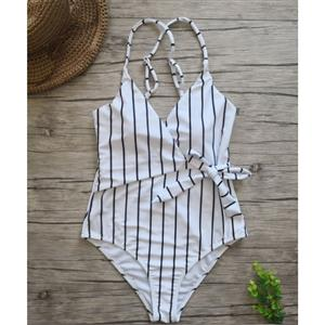 Backless One-piece Swimsuit, Low Cut Bodysuit Lingerie, Sexy Adjustable Straps Swimsuit Lingerie, Fashion Backless One-piece Beachwear, #BK17960