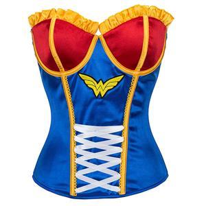 Halloween Costume Corset, Burlesque Corset for Women, Sexy Superhero Costume Cosplay, Superwoman Cospaly Corsets, #N14638