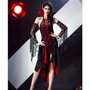 Sexy Vampire Vixen Costume, Long Vampire Costume, Female Vampire Halloween Costume, #N12003