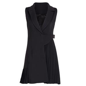 Black Dress For Women, Sexy Dresses For Women, Fashion Mini Dresses, Mini Party Dress, Black Office Dress, Sleeveless Mini Dresses, #N15217