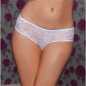 Sexy White Thong, Sexy Lace Panty for Women, White Elastic Lace Thong, White Crotchless Lace Panty, Sexy Open Crotch Plus Size Thong, Sexy White Lace Panty, #PT17524
