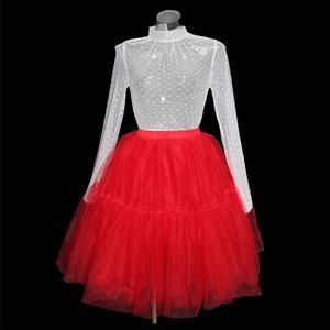 White Polka Dots Blouse Skirt Set, Hot Selling Blouse Skirt Set, Sexy Sheer Blouse Skirt Set, Fashion Women