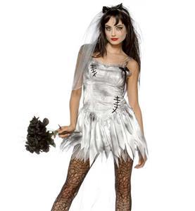 Zombie Bride Costume, Sexy Halloween Costume, Cheap Zombie Bride Costume, Wedding Corpse Costume, #N10485