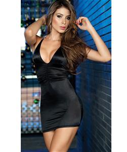 Slinky Mini Dress, Sexy black dress, Halter Dress, #N4641