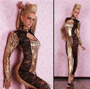 Leopard jumpsuit, lace & Leopard jumpsuit, Animal Costumes, #N1652