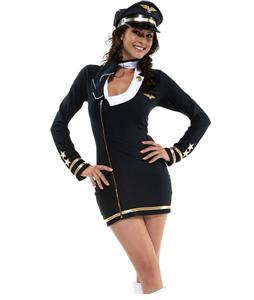 Pretty Pilot Costume, Zip Front Pilot dress, Pilot Halloween Dress, #M4155