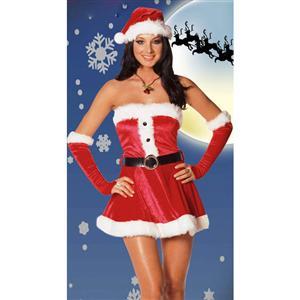 Holiday Lingerie, Santa Lingerie, Holiday Costume, #XT843