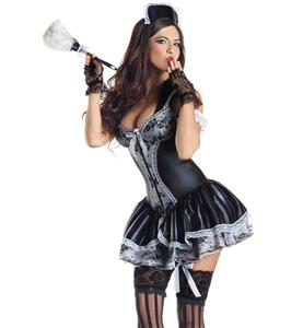 Deluxe French Maid Costume, Charming French Maid Costume, Maid Costume Corset, #N7829