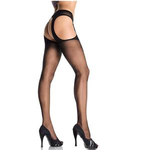 Nylon Fishnet Thigh High Stockings, fishnet hosiery, fishnet garter, Suspender Hose, #HG1748