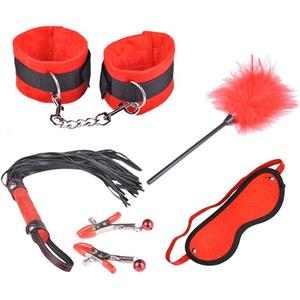 Five Sets SM Props, Red Naughty Adult Toy Accessory Set, Playtime Set Accessories, #MS6962