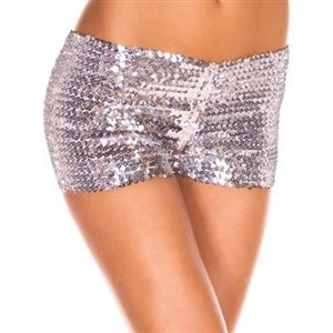 Silver Sequin Short, Sequin Booty Shorts, Sequin Go Go Shorts, #N5134