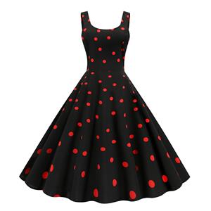 Cute Sleeveless Swing Dress, Vintage Dresses 1950