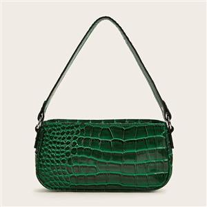 Crocodile Pattern Shoulder Bag, Simplicity Shoulder Bag, PU Leather Bags, Underarm Bag For Women,Zipper HandBag For Women, Classic Shoulder Bag,Crocodile Pattern HandBag, #N20705