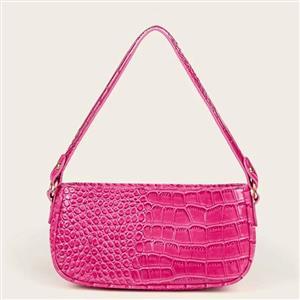 Crocodile Pattern Shoulder Bag, Simplicity Shoulder Bag, PU Leather Bags, Underarm Bag For Women,Zipper HandBag For Women, Classic Shoulder Bag,Crocodile Pattern HandBag, #N20706