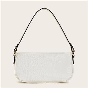 Crocodile Pattern Shoulder Bag, Simplicity Shoulder Bag, PU Leather Bags, Underarm Bag For Women,Zipper HandBag For Women, Classic Shoulder Bag,Crocodile Pattern HandBag, #N20707
