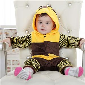 Bee Jumpsuit Romper Baby, Halloween Bee Costume Baby, Little Bee Climbing Clothes baby, #N6291