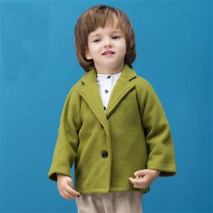 Boys British Single Breasted Woolen Peacoat, Boys Woolen Coats, Winter Clothing for Boys, #N12325