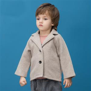 Boys British Single Breasted Woolen Peacoat, Boys Woolen Coats, Winter Clothing for Boys, #N12326