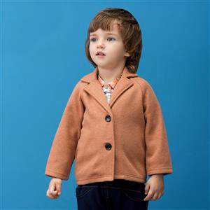 Boys British Single Breasted Woolen Peacoat, Boys Woolen Coats, Winter Clothing for Boys, #N12327