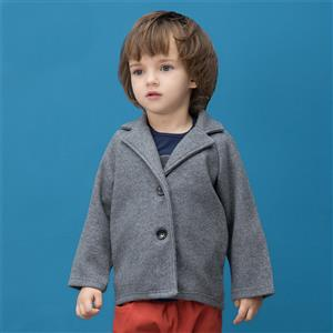 Boys British Single Breasted Woolen Peacoat, Boys Woolen Coats, Winter Clothing for Boys, #N12328