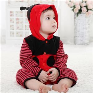 Ladybug Jumpsuit Romper Baby, Halloween Ladybug Costume Baby, Ladybug Climbing Clothes baby, #N6295