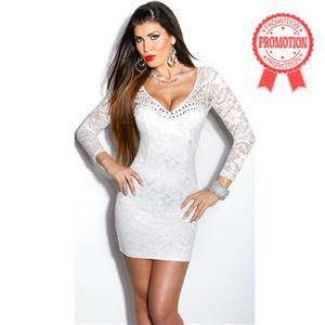Sleeve White Mini Dress N8232