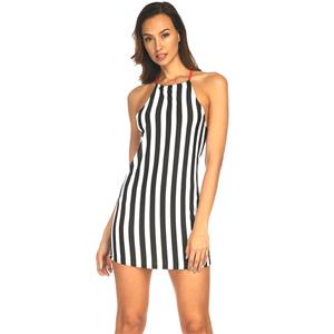 Casual Dresses for Women, Sexy Mini Dress for Women, Casual Mini Dress, Stripe Print Swing Daily Dress, Shoulder Straps Mini Dresses, Stripe Mini Dress, #N17558