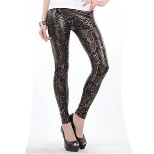Sexy Snakeskin Print Leggings N12461