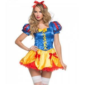 Snow Princess Costume, Sexy Halloween Costume, Cartoon Character Snow Princess Dress,Fancy Ball Costume, #N9839