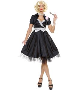 Sock Hop Sexy Adult 50s Costume, Sexy and Flirty Fifties costume, embroider deer dress, #N4540