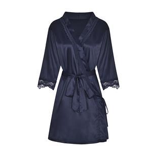 Sexy Robe Lingerie, Soft Chiffon Nightgown Chemise, Silk Lightweight Sleepwear Robe, Sexy Sleepwear Bathrobe, See-through Mesh Bathrobe Nightgown, Flare Sleeve Bathrobe, See-through Chiffon Nightgown for Women, #N19247