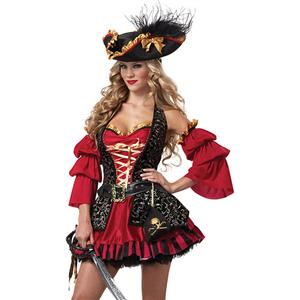 Spanish Pirate Costume, Pirate Wench Costume, Pirate Costume Adults, #N5104