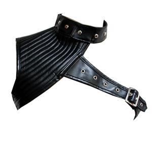 Heavy Corset Shrug, Cheap Outerwear Corset Shrug, Faux Leather Corset Shrug, Punk Leather Corset Shrug, Black Shrug, #N14708