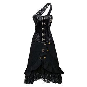 Steampunk Corset Skirt Set, Women