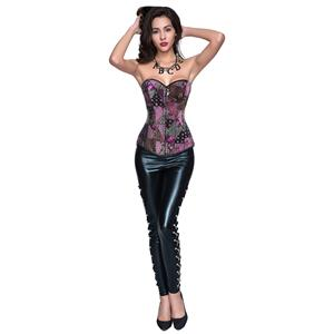 Steampunk Corset Pant Set for Women Sexy, Steampunk Outfit for Women, Gothic Punk Two-piece Costume, Sexy Punk Clothing for Women, #N12711