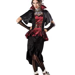 Steampunk Victorian Vampiress Costume, Steampunk Halloween Costume, Elite Quality Steampunk Vampiress Costume, #N6722