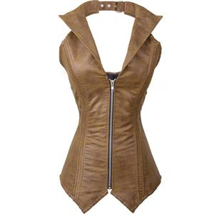 Steel Bone Collar Vest Leather Corset N8880