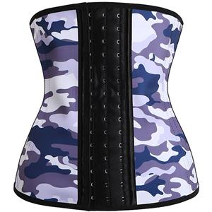 Latex Corset for Sport, Camouflage Latex Corset, Cheap Women