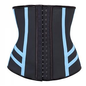 Steel Bone Underbust Corset, Latex Corset, Stripe Print Underbust Corset, Cheap Women