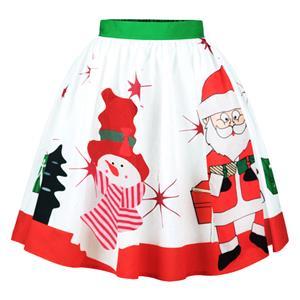 Christmas Skater Skirt, Sexy Skater Skirt for Women, A Line Pleated Skirt, Christmas Holiday Print Skirt, Retro Fashion Skirts, Christmas 3d Digital Print Skater Skirts, #N15078