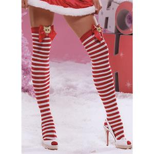 Santa Stockings, Nylon Striped Stockings, Sexy Christmas Stockings, Stockings wholesale, #HG2200