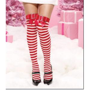 thigh highs Stockings, Nylon Striped Thigh Highs, Stockings wholesale, Striped Christmas Thigh Highs, #HG2191