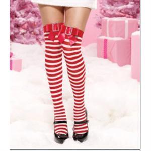 thigh highs Stockings, Nylon Striped Thigh Highs, Stockings wholesale, Striped Christmas Thigh Highs, #HG2191