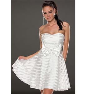 Fashion Clubwear Dress, Lady Dress for cheap, White Big Bow Mini Dress, Hot Selling Short Dress, Party Dress, #N10101