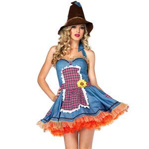 Sunflower Scarecrow Costume, Sexy Scarecrow Costume, Womens Scarecrow Costume, #N6354