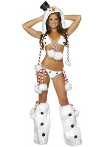 Sexy Snowman Bikini Set, Snow Man Bikini, Sexy Snow Man Lingerie, Holiday Bikini, Snowman Suit, #XT6355